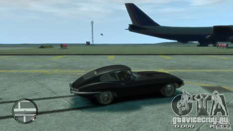 Jaguar XK E-type для GTA 4 вид слева