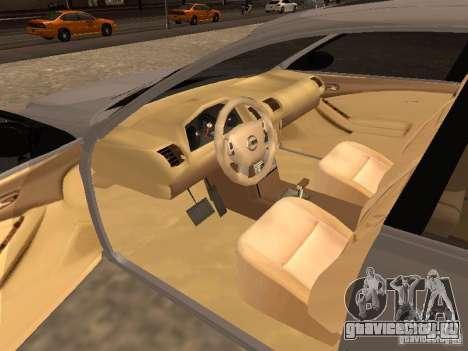 NISSAN ALTIMA для GTA San Andreas вид сзади слева