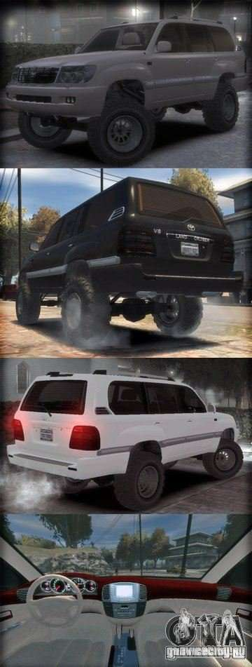 Toyota Land Cruiser 100 для GTA 4 вид слева
