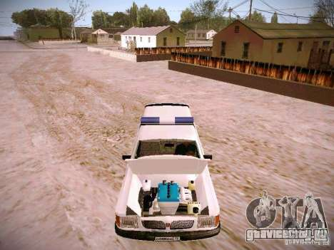 ГАЗ 310231 Скорая для GTA San Andreas вид изнутри