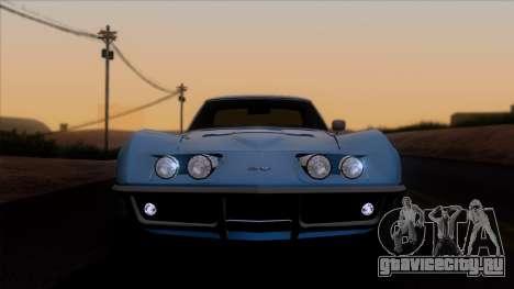 Chevrolet Corvette C3 Stingray T-Top 1969 v1.1 для GTA San Andreas вид сзади