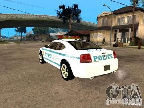 Dodge Charger Police NYPD для GTA San Andreas вид слева