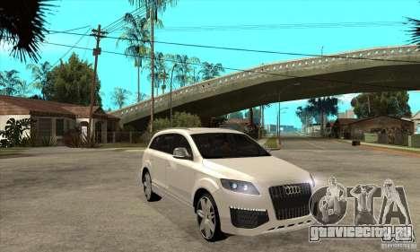 AUDI Q7 V12 V2 для GTA San Andreas вид сзади