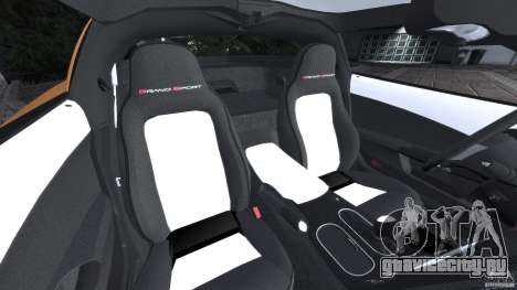Chevrolet Corvette C6 Grand Sport 2010 для GTA 4 вид изнутри