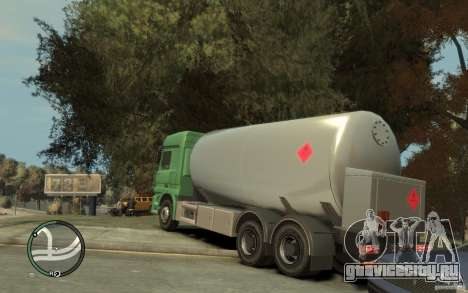 Mercedes Benz Actros Gas Tanker для GTA 4 вид сверху