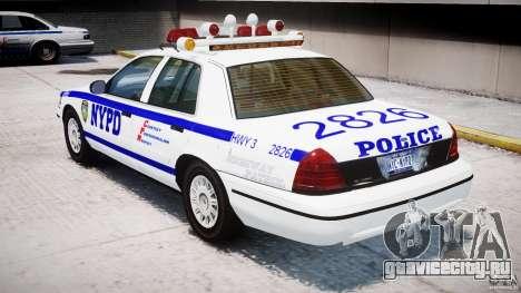 Ford Crown Victoria NYPD для GTA 4 вид справа