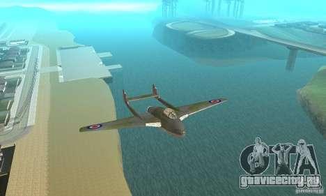 De-Havilland-Vampire ver 2.0 для GTA San Andreas вид изнутри