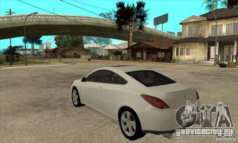 Pontiac G6 Stock Version для GTA San Andreas вид сзади слева