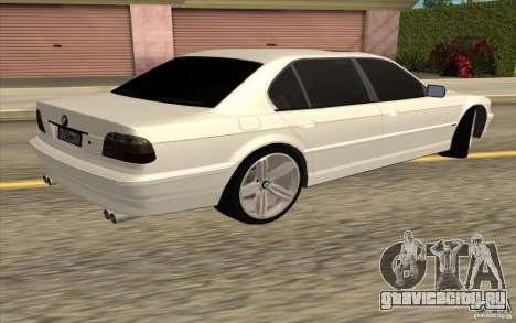 BMW 750iL E38 для GTA San Andreas вид сзади