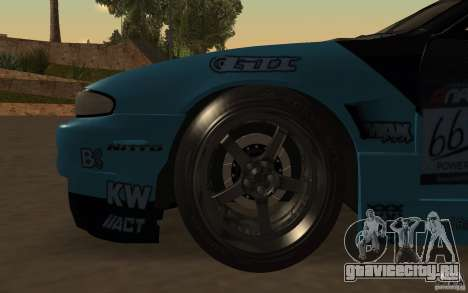 Nissan S14 Matt Powers 2012 для GTA San Andreas вид сверху