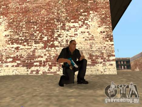 Chrome and Blue Weapons Pack для GTA San Andreas седьмой скриншот