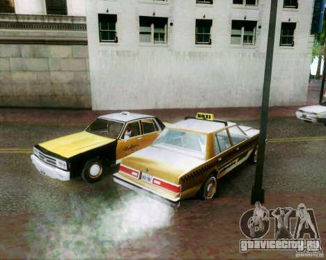 Chevrolet Impala 1986 Taxi Cab для GTA San Andreas вид сверху