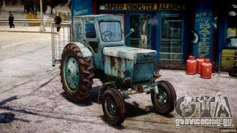 Трактор T-40M для GTA 4 вид сзади