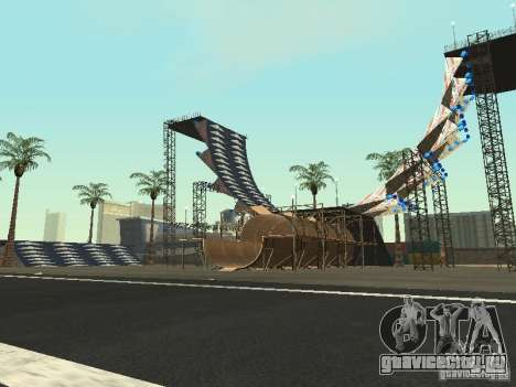 Drift track and stund map для GTA San Andreas