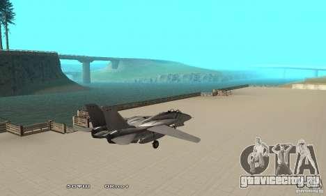 F14W Super Weirdest Tomcat Skin 1 для GTA San Andreas вид сзади слева