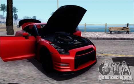 Nissan GTR Egoist 2011 (Версия с грязью) для GTA San Andreas вид сзади слева