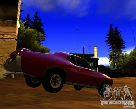 Pontiac GTO 1969 для GTA San Andreas вид сзади слева