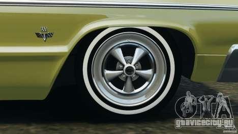 Chevrolet Impala SS 1964 для GTA 4 салон