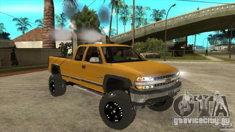 Chevrolet Silverado 2500 Lifted для GTA San Andreas вид сзади
