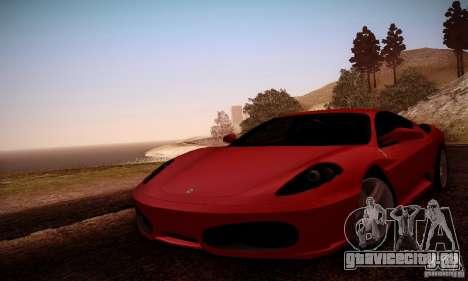 Ferrari F430 v2.0 для GTA San Andreas вид сверху