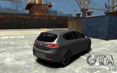 Seat Leon Cupra v.2 для GTA 4 вид справа