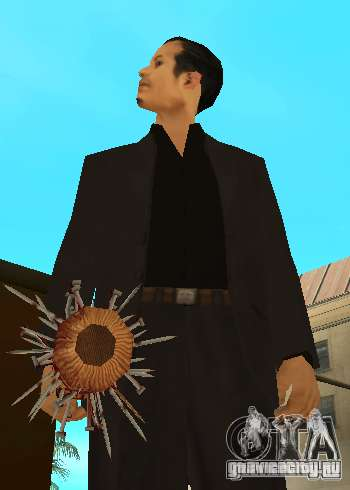 Кровавая бита с гвоздями HD для GTA San Andreas четвёртый скриншот