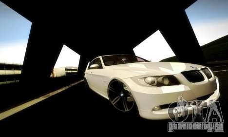 BMW 330 E90 для GTA San Andreas вид изнутри