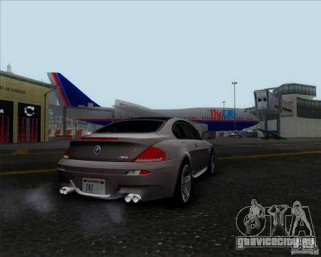 BMW 6 Series M для GTA San Andreas вид сзади слева
