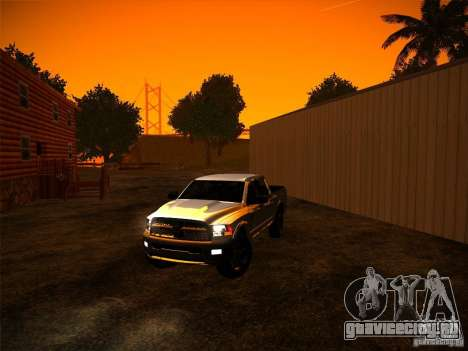 Dodge Ram Heavy Duty 2500 для GTA San Andreas вид справа