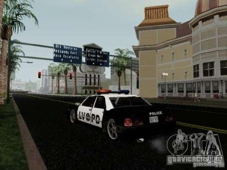 Sunrise Police LV для GTA San Andreas вид сзади слева