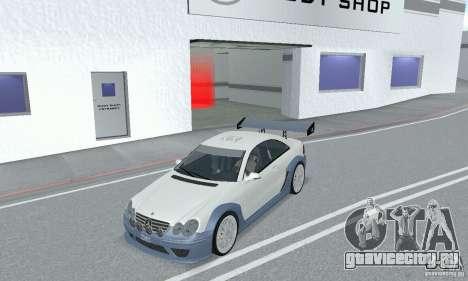 Mercedes-Benz CLK DTM AMG для GTA San Andreas вид сзади