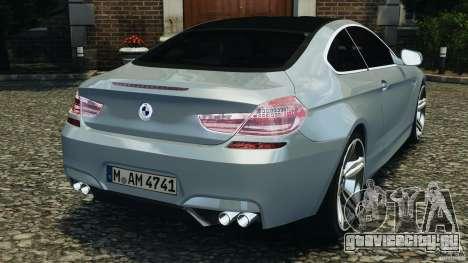 BMW M6 Coupe F12 2013 v1.0 для GTA 4 вид сзади слева