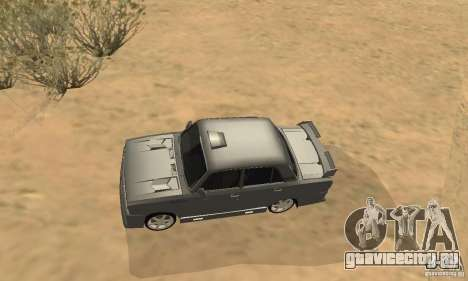 ВАЗ 2105 Night Hunter для GTA San Andreas вид изнутри