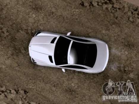 Mercedes-Benz SLK55 AMG 2012 для GTA San Andreas вид снизу