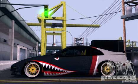 Nissan 300ZX Bad Shark для GTA San Andreas вид сзади