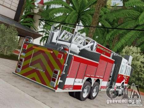 Pierce Aerials Platform. SFFD Ladder 15 для GTA San Andreas вид снизу