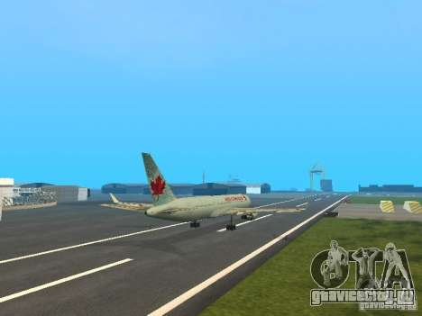 Boeing 767-300 Air Canada для GTA San Andreas вид изнутри