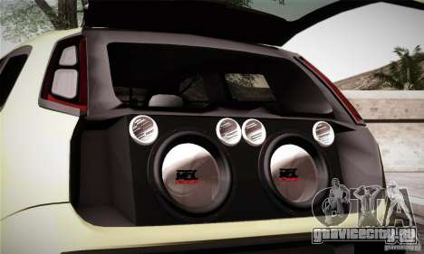 Fiat Punto Evo 2010 Edit для GTA San Andreas вид сверху