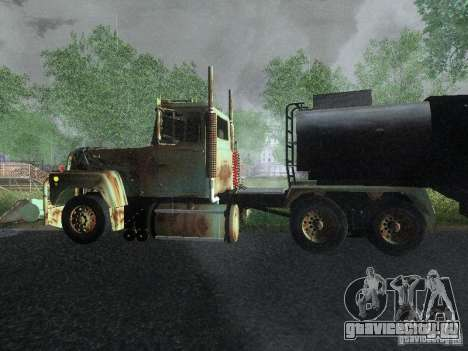 Armored Mack Titan Fuel Truck для GTA San Andreas вид слева