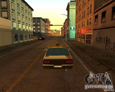 Azik Taxi для GTA San Andreas вид слева