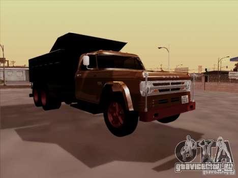 Dodge Dumper для GTA San Andreas вид слева