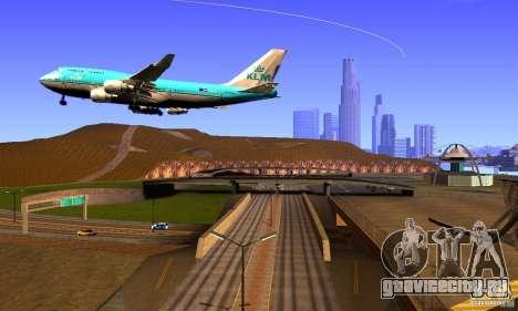 Boeing 747 KLM для GTA San Andreas вид справа