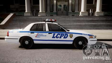 Ford Crown Victoria CVPI-V2.5V для GTA 4 вид слева
