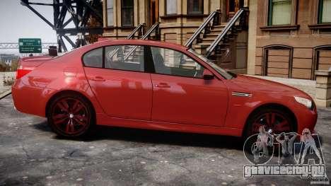 BMW M5 E60 2009 для GTA 4 вид сзади