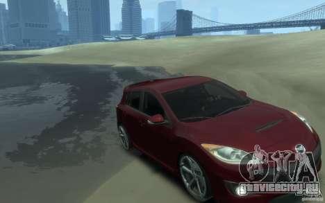 Mazda 3 MPS 2010 для GTA 4 вид сзади