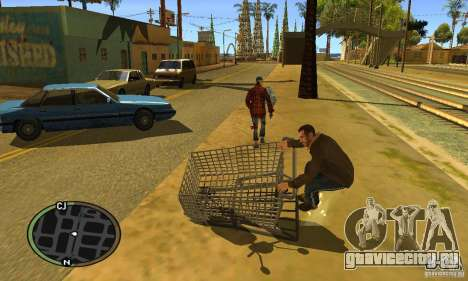 Shopping Cart Faggio V2 для GTA San Andreas вид слева