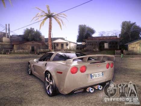 Chevrolet Corvette C6 Z06 Tuning для GTA San Andreas вид сзади слева