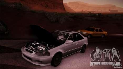 Honda Civic Coupe Si Coupe 1999 для GTA San Andreas вид сзади