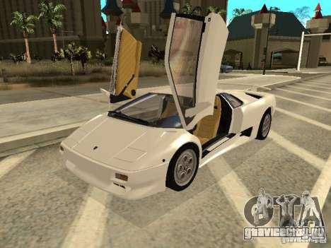 Lamborghini Diablo VT 1995 V2.0 для GTA San Andreas вид слева