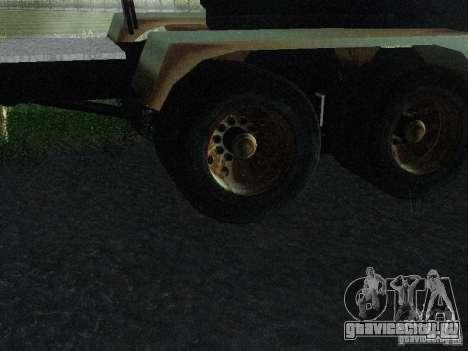 Armored Mack Titan Fuel Truck для GTA San Andreas вид сзади